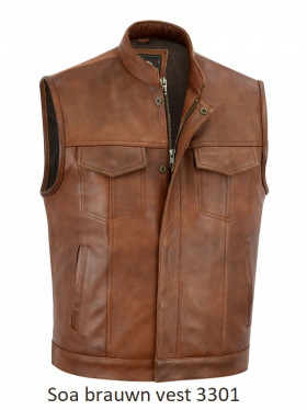 Soa classic vest brown